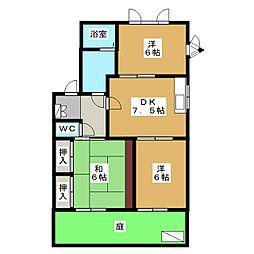 メゾン ド フォレA[1階]の間取り