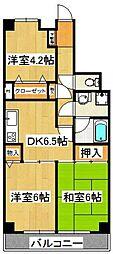 ライオンズマンション西船橋第2[4階]の間取り