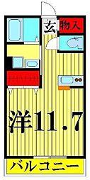 埼玉県八潮市大瀬5丁目の賃貸マンションの間取り
