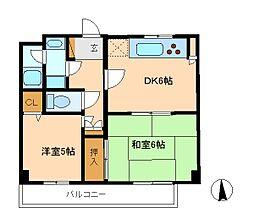 コスモ松戸胡録台[2階]の間取り