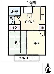 パークハイムⅠ[2階]の間取り