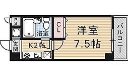 四ノ宮コート[502号室号室]の間取り