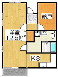 ケーワイビル[3F号室]の間取り