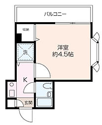 ヴァンハウス横須賀[3階]の間取り