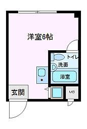 ビスタ八戸ノ里[105号室]の間取り