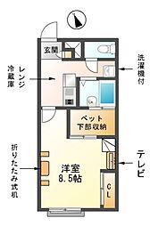 愛知県海部郡大治町大字西條字須先の賃貸アパートの間取り