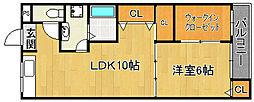 田伏第一マンション[2階]の間取り