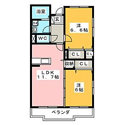 プラス・ド・ボヌール[3階]の間取り