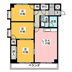 タウンハウス桜山[3階]の間取り