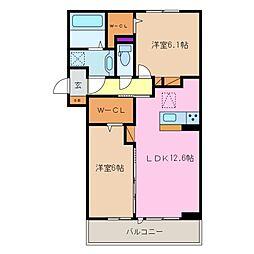 三重県四日市市ときわ4丁目の賃貸アパートの間取り