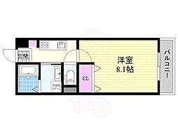 Osaka Metro今里筋線 だいどう豊里駅 徒歩2分の賃貸アパート 1階1Kの間取り