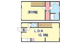兵庫県神戸市北区鈴蘭台北町1丁目の賃貸アパートの間取り