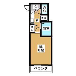 エステムコート京都烏丸[9階]の間取り