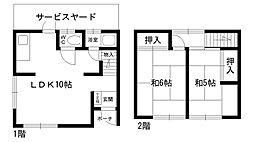 [テラスハウス] 兵庫県西宮市仁川町6丁目 の賃貸【/】の間取り