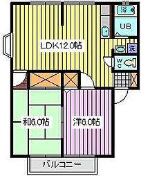 埼玉県さいたま市南区松本1丁目の賃貸アパートの間取り
