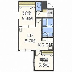 Pine Residence N32[3階]の間取り