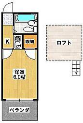 ベルツリー八柱[1階]の間取り