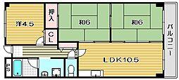 大阪府茨木市耳原2丁目の賃貸マンションの間取り
