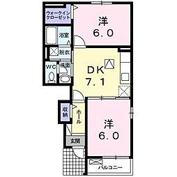フレ−ズ A[1階]の間取り