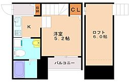 福岡県福岡市博多区光丘町1丁目の賃貸アパートの間取り
