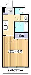 東京都小平市美園町2丁目の賃貸マンションの間取り