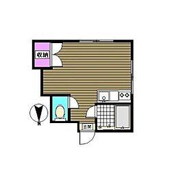 水口荘[2階]の間取り
