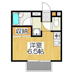 三井アメニティハイム[101号室]の間取り