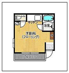 福岡県福岡市早良区室見3丁目の賃貸アパートの間取り