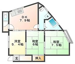 シティハウス[3階]の間取り