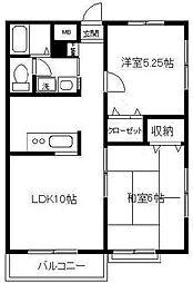エミネンスハウスII B[1階]の間取り