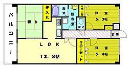 プレステージ和白3[7階]の間取り