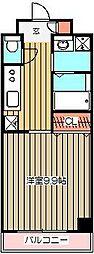 ビュークレスト武蔵小金井[4階]の間取り
