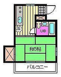 埼玉県さいたま市大宮区寿能町2丁目の賃貸アパートの間取り