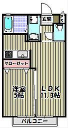 エミネンスシャルム千寿[1階]の間取り