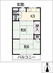 コーポアサノ[2階]の間取り
