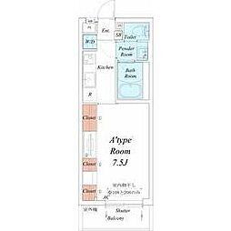 名古屋市営鶴舞線 浄心駅 徒歩7分の賃貸マンション 3階1Kの間取り