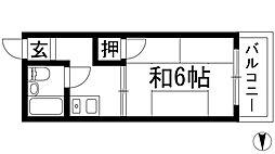 コンドミニアム美園[2階]の間取り