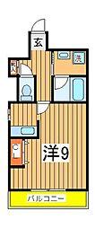 興亜第3マンション[206号室]の間取り