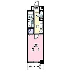 プリマ・ステラ 4階1Kの間取り