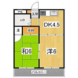 第二平木マンション[3階]の間取り