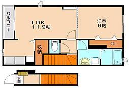 メゾンドゥプロヴァンス[2階]の間取り