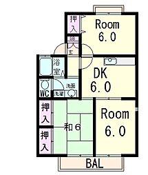 ボナール本郷B[1階]の間取り