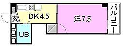 KBコート土居田1[202 号室号室]の間取り