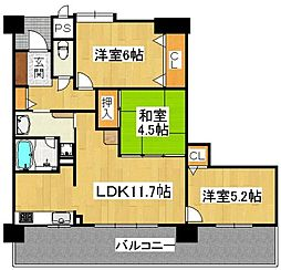 フェニックス堺東[15階]の間取り