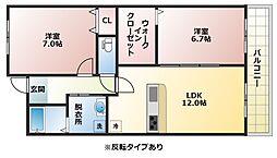ポラリス B棟[1階]の間取り