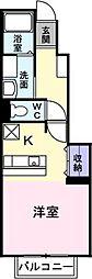 チェリーガーデンオアシスB[1階]の間取り