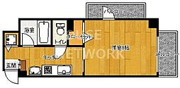 THE BASE 四条大宮[201号室号室]の間取り
