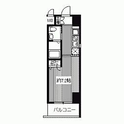 ドゥーエ江坂II(旧プライムアーバン江坂II)[0901号室]の間取り