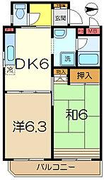 スカイコート横浜南太田[4階]の間取り