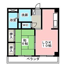 坂崎ビル[5階]の間取り
